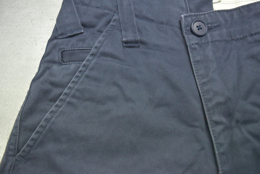 GANRYU / Navy Asymmetry Cotton Sarouel Pants
