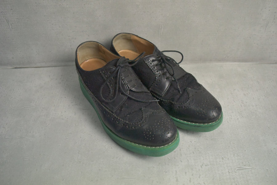 COMME des GARCONS SHIRT / Black Wing Tip Shoes
