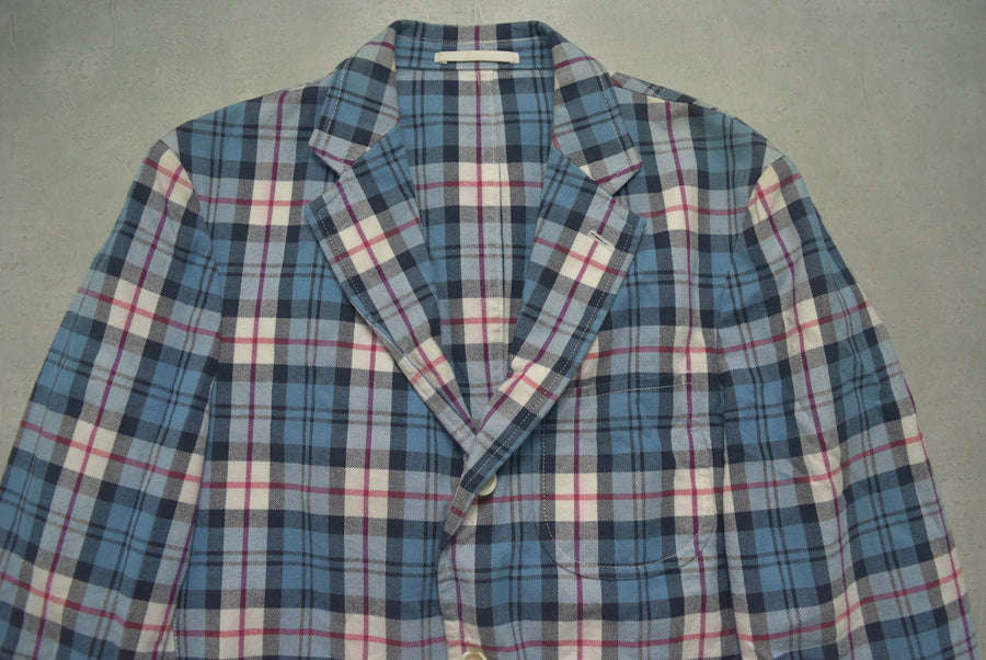 COMME des GARCONS HOMME / Blue Check Tailored Jacket