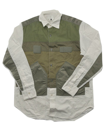 GANRYU / Military Patchwork Shirt