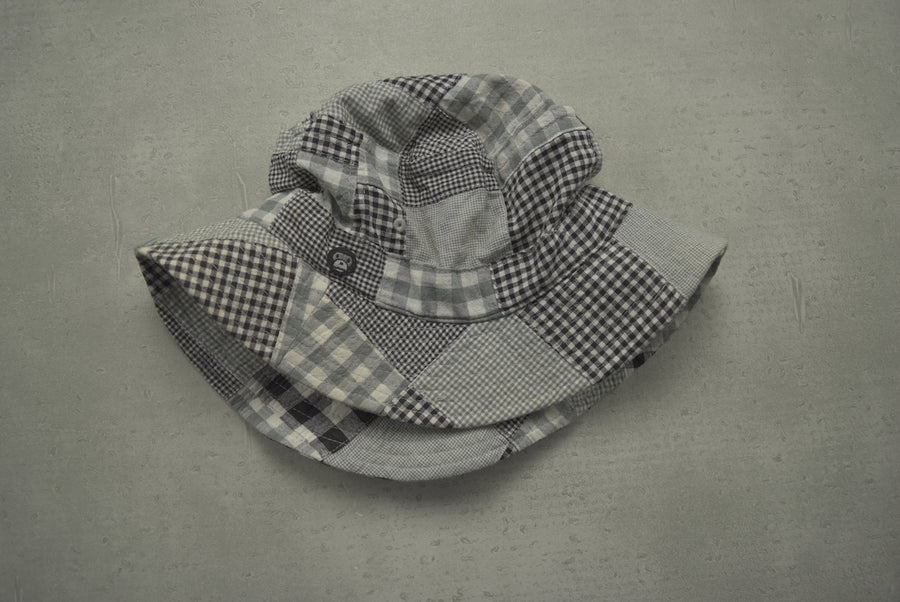BAPE / Grey Crazy Check Bucket Hat