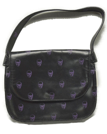 UNDERCOVER / Black Skull Print Party Bag
