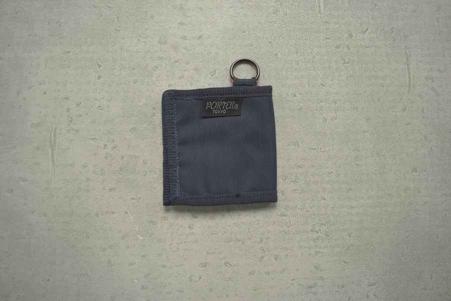 PORTER / Navy Coin Case Wallet
