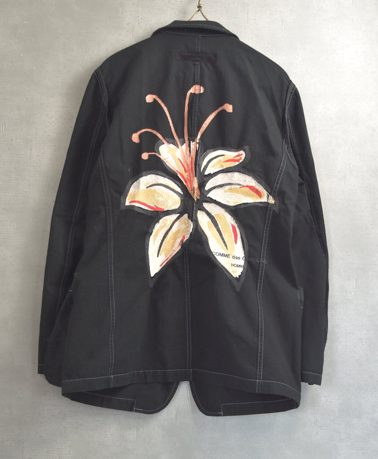 COMME des GARCONS HOMME / Flower Print Cotton Graphic Jacket