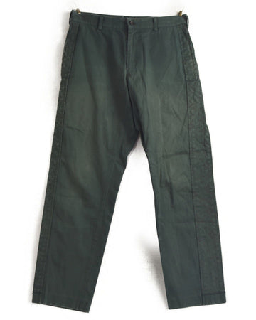 COMME des GARCONS / Olive Side Line Cotton Pants