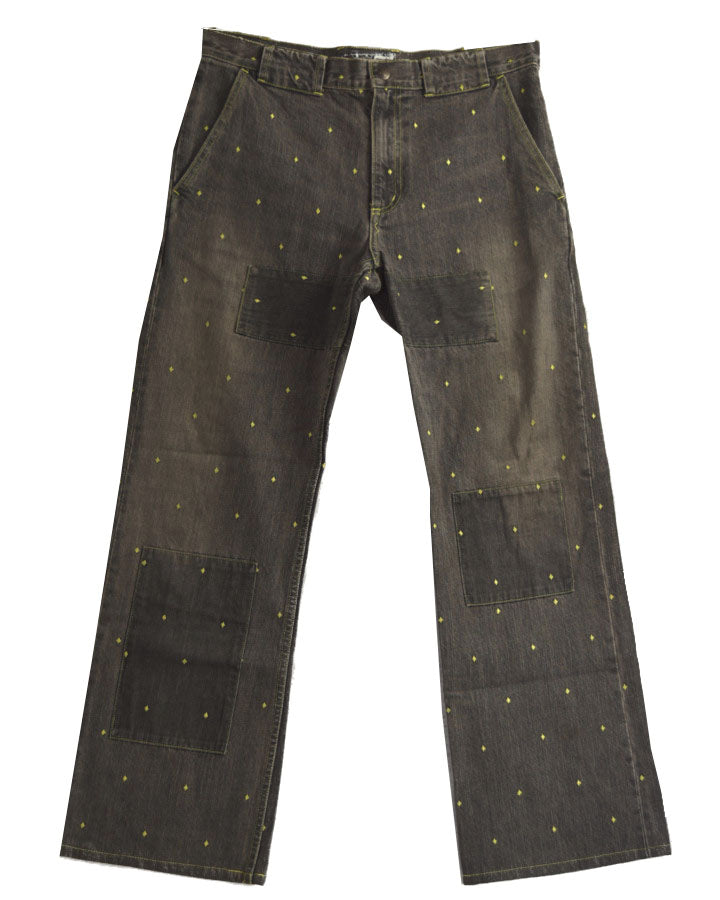 UNDERCOVER / Embroidary Black Denim Pants