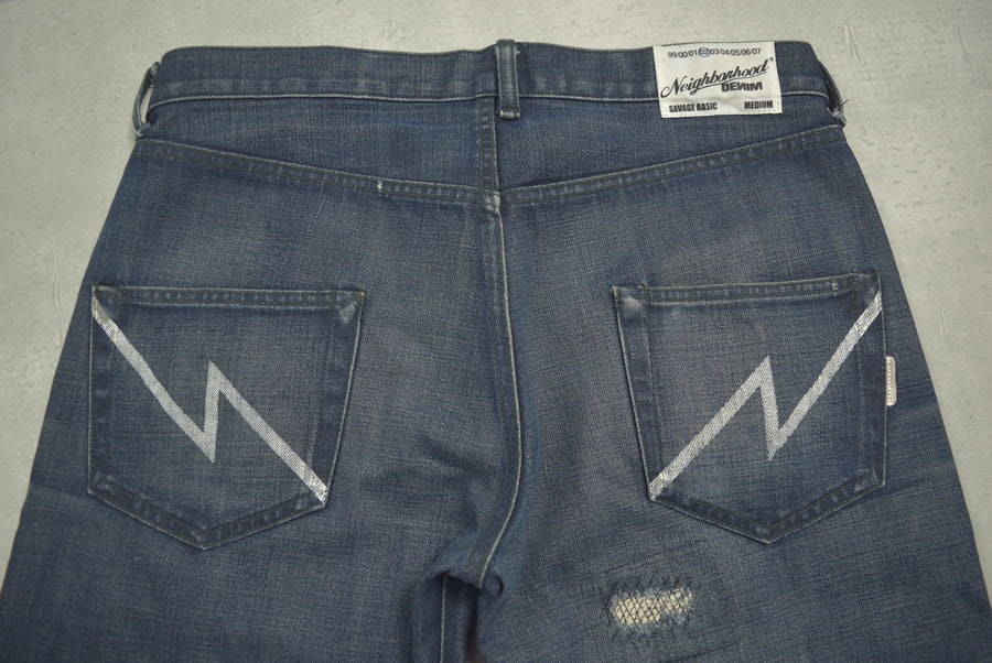 NEIGHBORHOOD / Damage Denim Pants