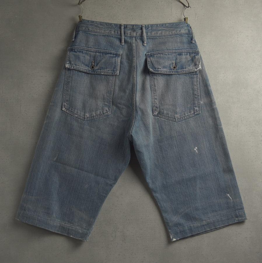 KAPITAL / Paint Denim Short Pants