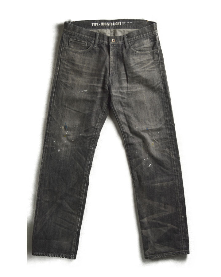 NEIGHBORHOOD / Savage Mid Straight Paint Denim Pants