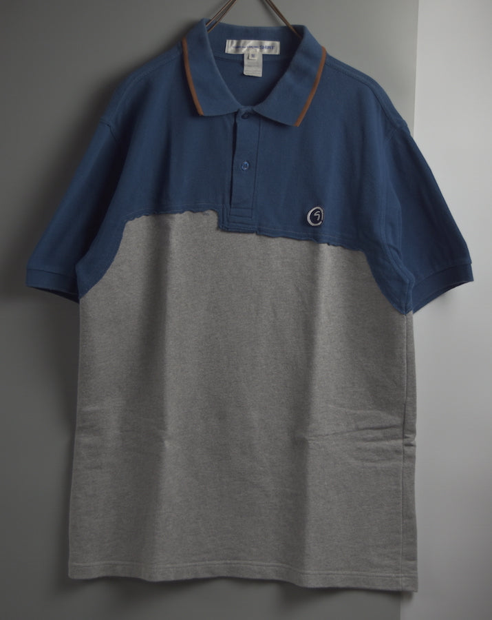 COMME des GARCONS SHIRT / Hybrid Pattern Polo Shirt