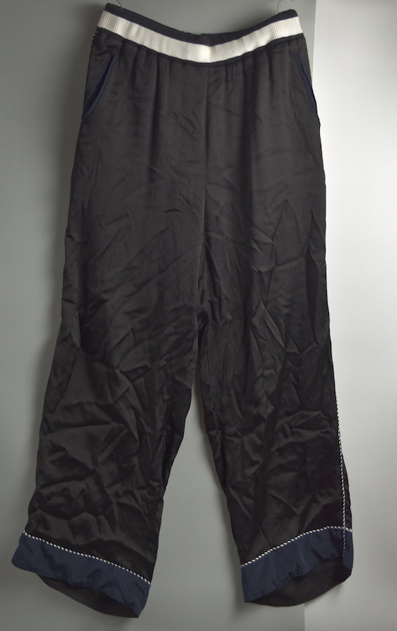 FACETASM / Black Rayon SKA PANTS