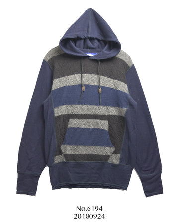 JUNYA WATANABE MAN COMME des GARCONS / Border Pullover Knit Hoodie