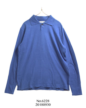 KAPITAL / Blue Long Polo Shirt