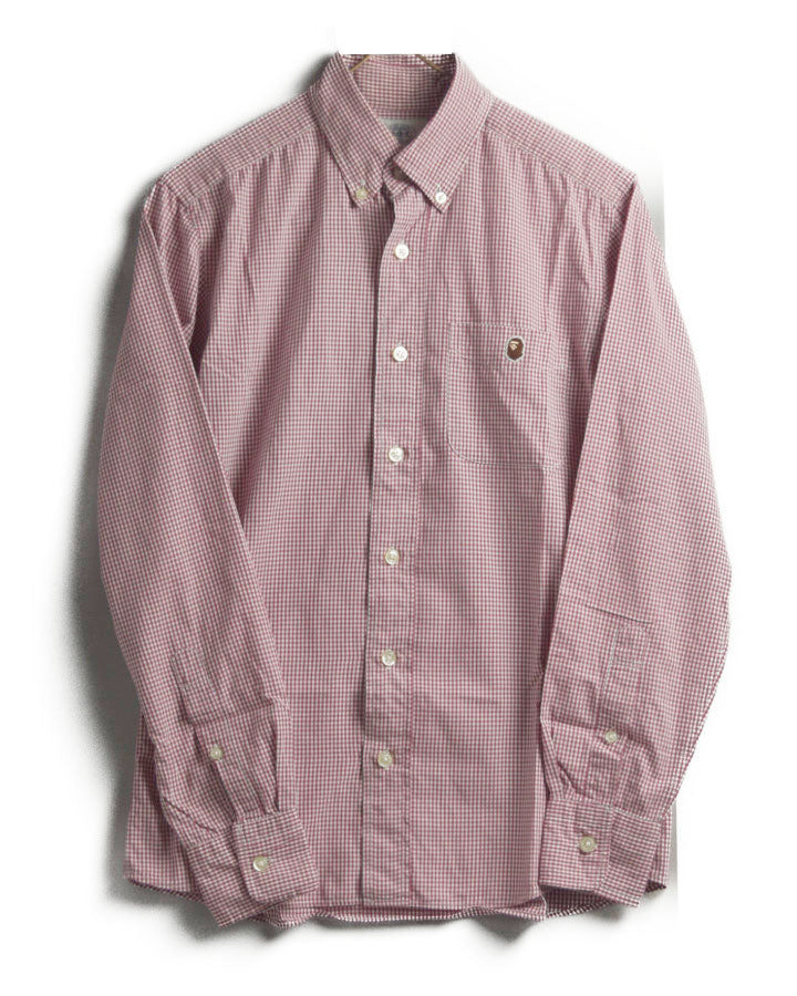 BAPE / Pink Gingham Check Shirt
