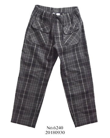 GANRYU / Wool Check Easy Pants