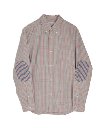 HEAD PORTER PLUS / Patchwork Check Shirt