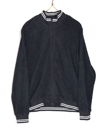 HEAD PORTER PLUS / Black Pile Jersey Jacket