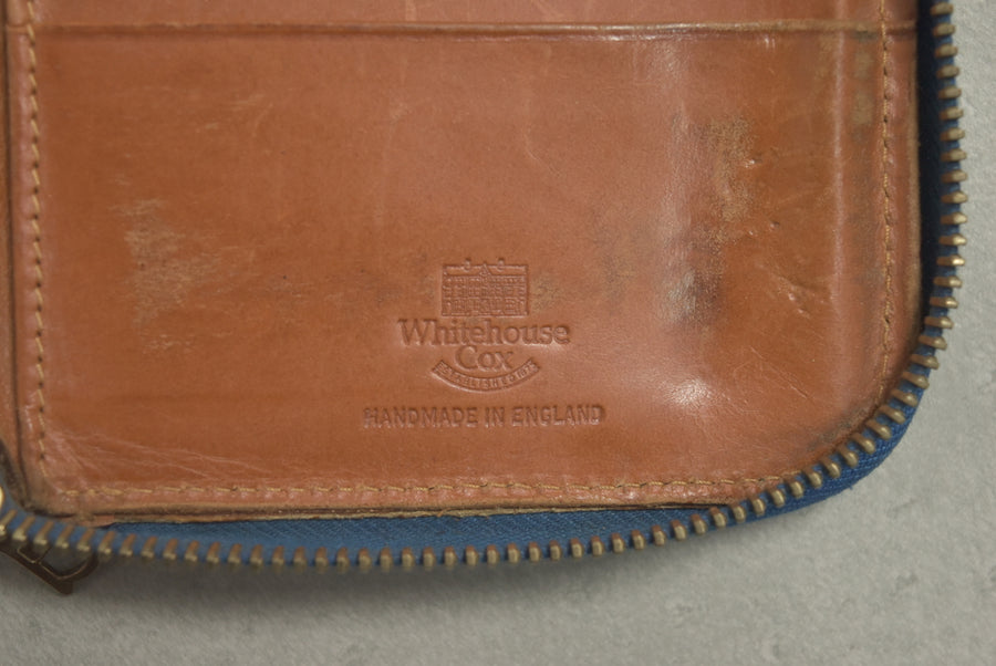 WHITE HOUSE COX / Blue Leather Long Wallet