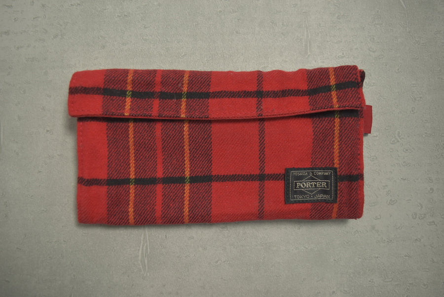 HEAD PORTER PLUS / Tartan Check Long Wallet