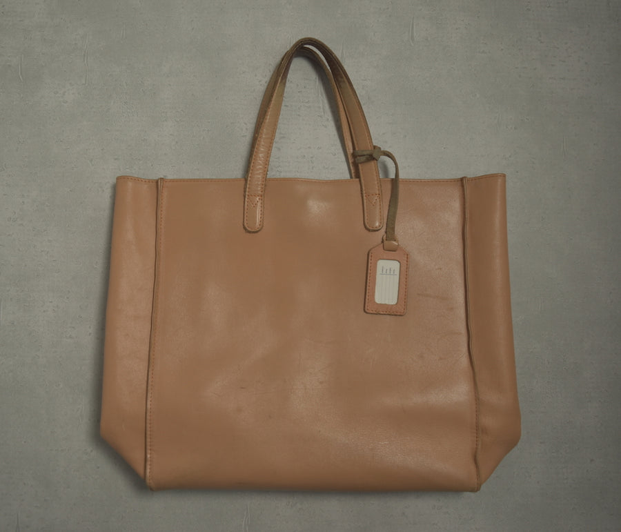 PORTER / Brown Leather Tote Bag