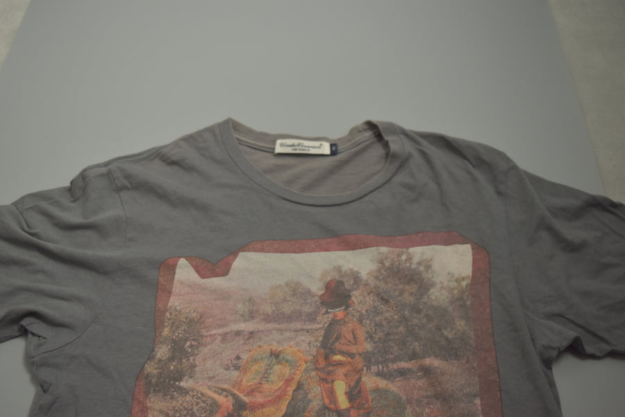 UNDERCOVER / Grey Oil Painting Cutsew