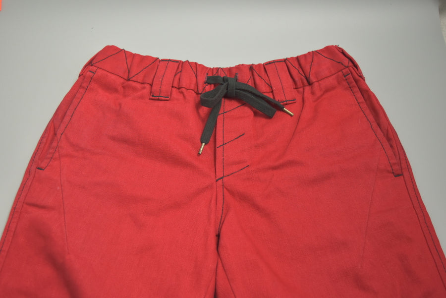 NUMBER(N)INE / Portland Red Cropped Easy Pants
