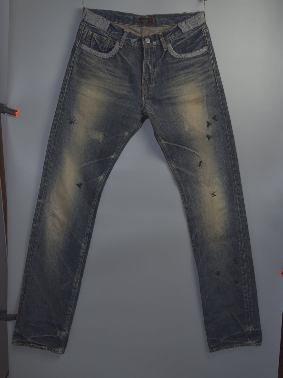 UNDERCOVER / But Beautiful Damage Denim Pants