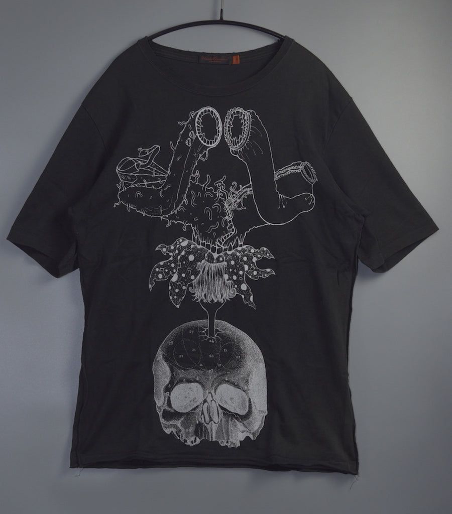 UNDERCOVER / Black Collage Print Graphic Cutsew