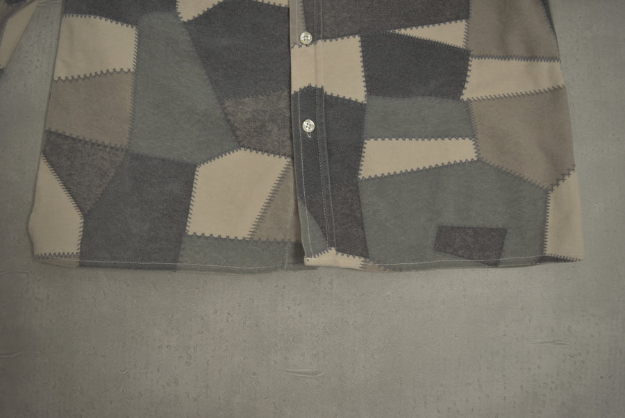 BAPE / Grey Camo Patchwork Shirt