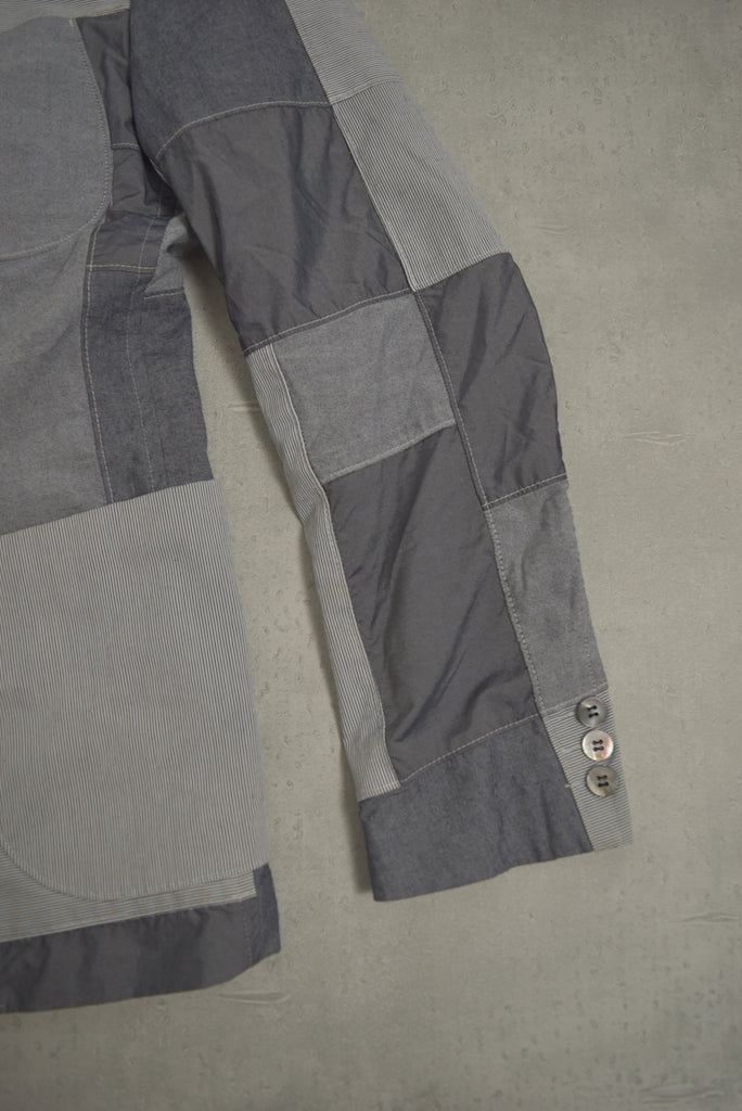 COMME des GARCONS HOMME / Grey Patchwork Tailored Jacket