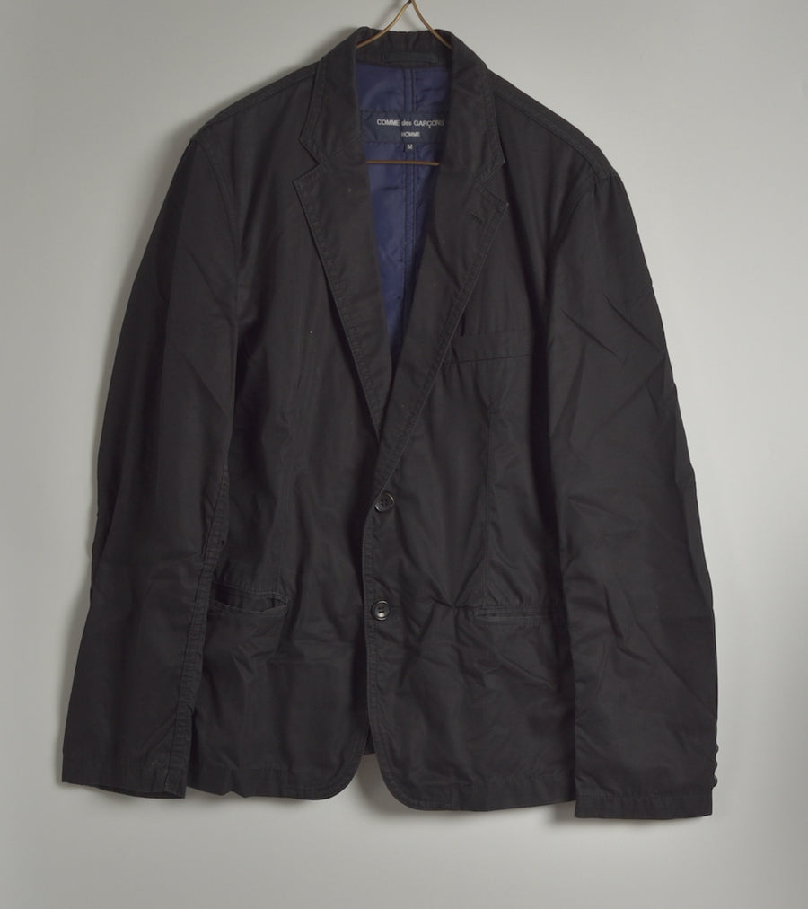 COMME des GARCONS / Black Cotton Tailored Jacket