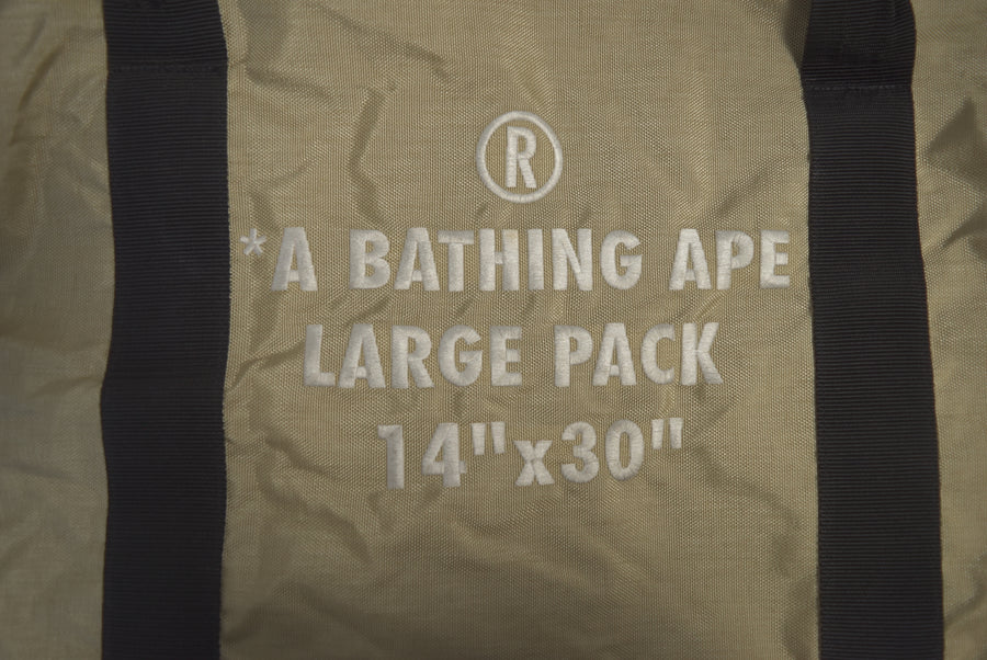 BAPE / Beigh Nylon Boston Bag