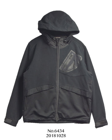 WHITE MOUNTAINEERING / BLK Black Fleece Mountain Parka Jacket