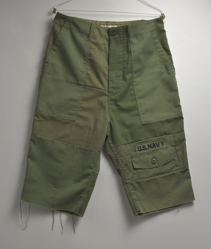 Needles / Rebuild Military Short Pants