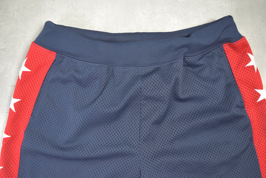 supreme / Navy Star Basket Pants