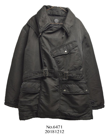 Porter Classic / Super nylon Black Military Riders Coat Jacket