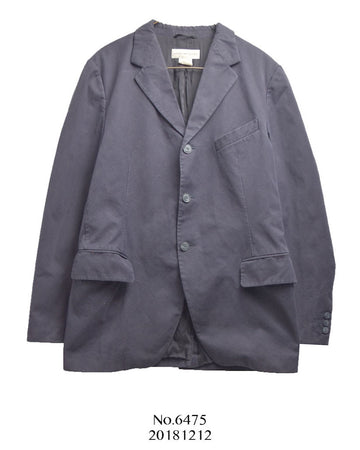 Dries Van Noten / Navy / Purple Cotton Suit Jacket