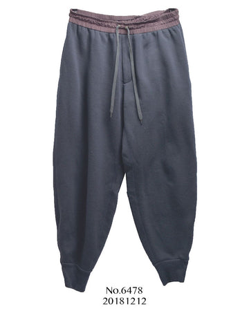 kolor / Navy Wool Jersey Sweat Easy Pants