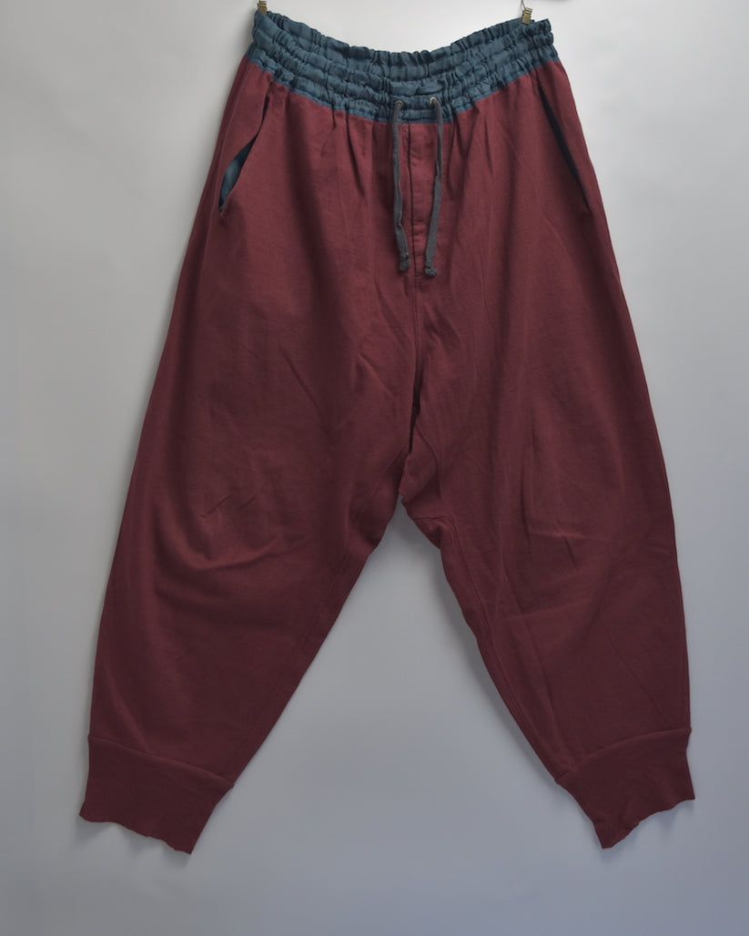 kolor / Burgundy Easy Sarouel Pants