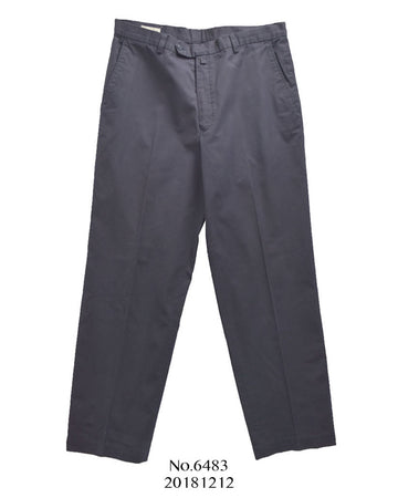 Dries Van Noten / Navy / Purple Cotton Suit Pants