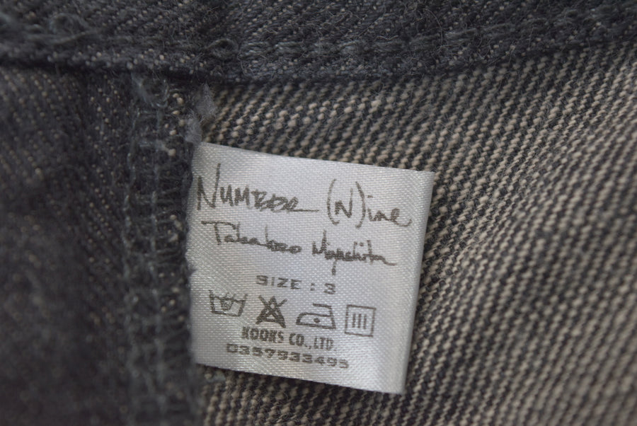 NUMBER(N)INE / Black Denim Slim Pants