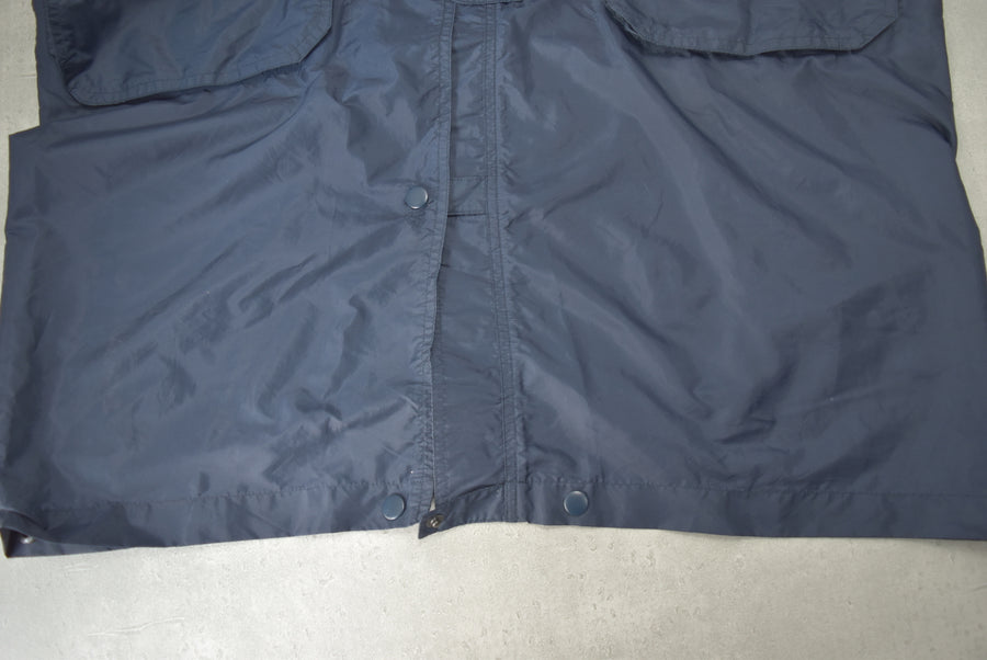vintage / Long nylon blouson jacket
