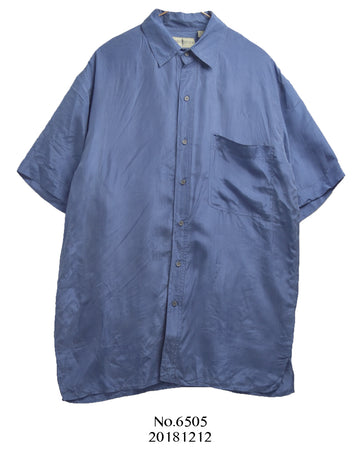 vintage / Blue silk shirt