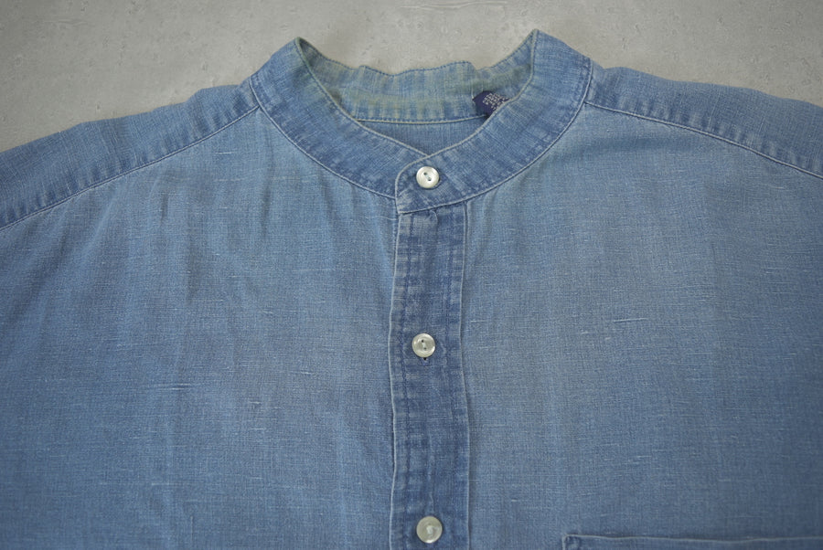 GAP / 90s old GAP Indigo linen no color shirt