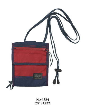 PORTER / Navy blue × Red Shoulder bag
