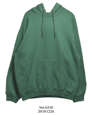 vintage / Green plain sweat parka