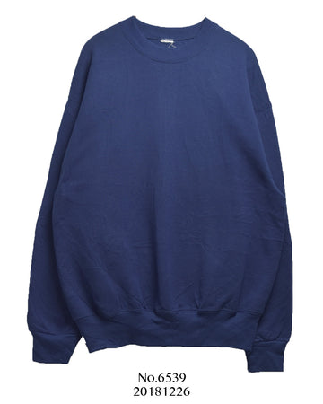 vintage / Navy plain sweat shirt