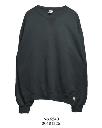 vintage / Black plain sweat shirt