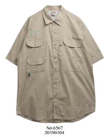vintage / 00's beigh fishing shirt
