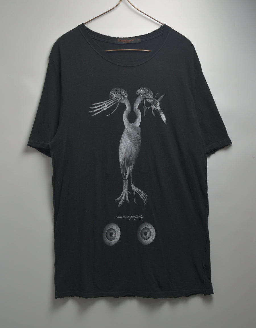 UNDERCOVER / Eyeball GROTEC Printed cotton T-shirt